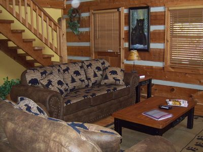 Photo for Driftwood Log Cabin - Free Xplorie Attractions Every Day!