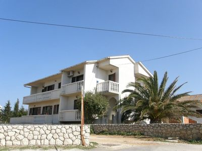 Photo for One bedroom apartment with balcony and sea view Povljana, Pag (A-18177-a)