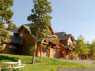 Photo for NEW LISTING! Mountain home w/patio & shared hot tub -walk to ski lift/bus stop