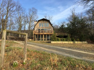 Photo for Secluded Mountain Home! Spectacular Views! Hot Tub! Only 100 miles from DC!