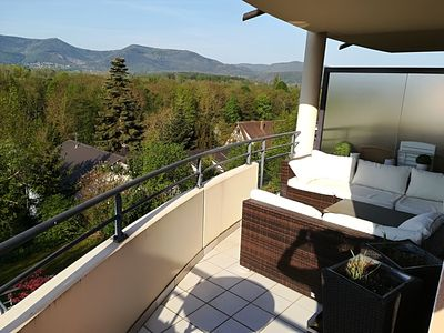Photo for Apartment 75 m2, terrace exceptional view on the hill of Mont ST. Odile