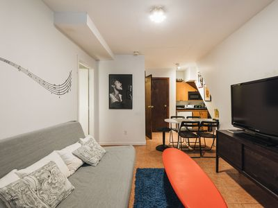 Photo for Charming Times Square garden floor apt (sleeps 5 people, 2 bathrooms)