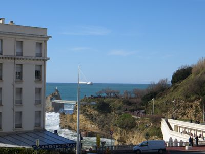 Photo for Apartment with parking in downtown Biarritz near the beach