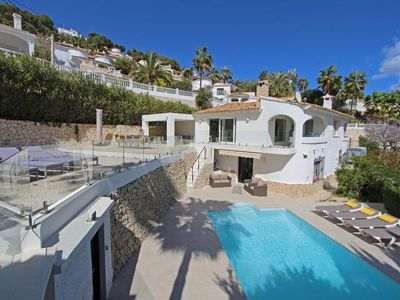 Photo for Lovely and comfortable villa in Moraira, on the Costa Blanca, Spain  with private pool for 8 persons