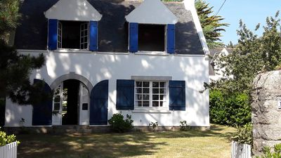 Photo for South Brittany Family villa a few steps from the beaches of Kerbourgnec and Kermahe