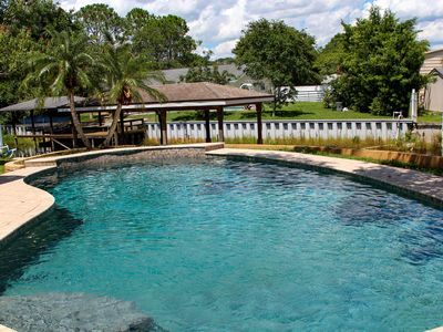 Resort Like Private Pool Waterfront Retreat 4/2 Home in East Orlando Florida