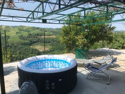 Photo for Panoramic house overlooking the vineyards between Nizza Monferrato and Acquiterme.