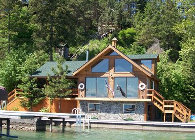Boathouse from water