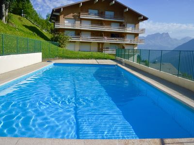 Photo for SUMMER 2019: SWIMMING POOL, TENNIS, WIFI, ANY COMFORT, SUBLIME VIEW FACING MONT BLANC!