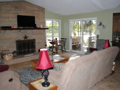 Photo for 4 Season Lakefront Home Beautiful Views, Central AC, Game Room, Fireplace, WiFi