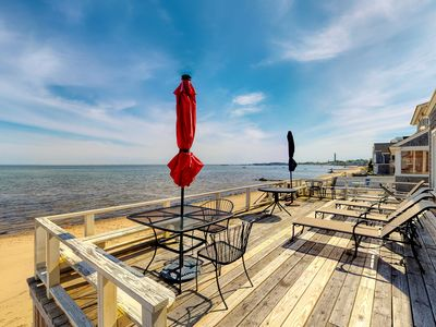 Photo for Oceanfront home w/ deck, beautiful views & beach access - walk to town!