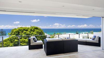 Photo for Modern 3 bed apartment, stunning ocean views, private heated pool, FREE Wi-Fi