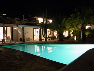 Photo for Detached, modern villa with heated pool and stunning sea views