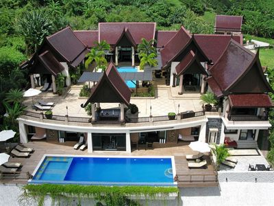 Bann Chang Thai Villa with 9 bedrooms, 2 sleeping lofts and 2 large pools & chef