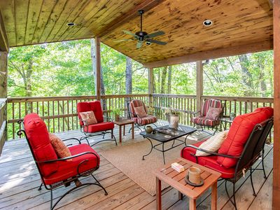 Photo for Charming Mountainside Cabin with Plenty of Upgrades & Privacy