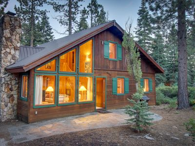 Photo for Classic, Lake Tahoe cabin on double lot w/ WiFi & fireplace!