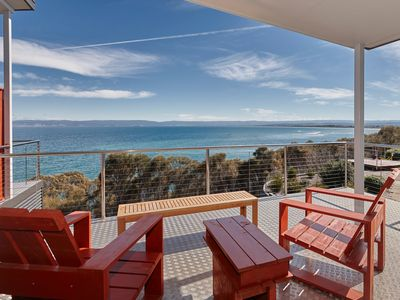 Photo for Meters from the waters edge. Free wifi. 10 min walk to the beach. Deck chairs
