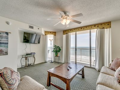 Photo for Crescent Shores 607, 3 Bedroom Beachfront Condo, Hot Tub and Free Wi-Fi!