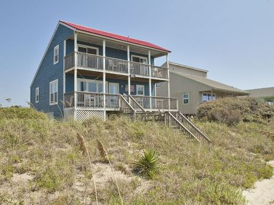 Photo for American Dream: 3 Bed/2 Bath Oceanfront Home with 2 Covered Porches Close to Oak Island Pier