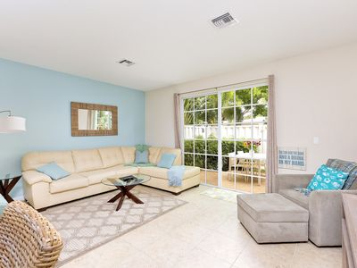 Photo for Elegant Gated 3BR w/ Patio, Pool & Hot Tub – Short Drive to Beach