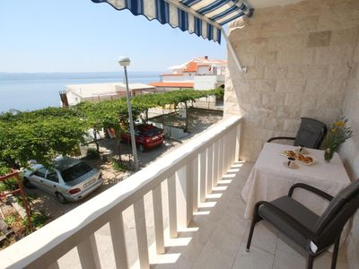Photo for Studio flat with terrace and sea view Pisak (Omiš)