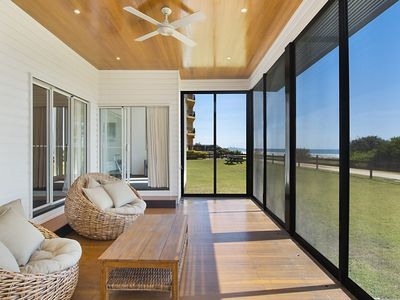 Photo for Beachfront Abode - Absolute Beachfront holiday home walk 200 m over the sand dunes to the ocean