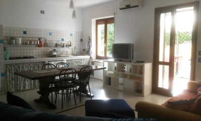 Photo for Granchio apartment in Alghero with air conditioning, private terrace & balcony.