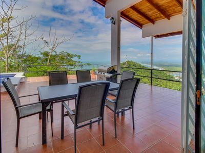 Photo for Elegant house w/private pool & ocean, valley and mountain views - near the beach