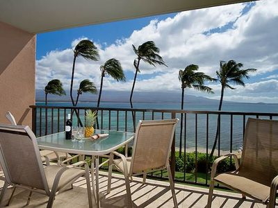 Photo for $145 Summer Special + FREE NIGHT! Valid 08/30-09/22! Maalaea Banyans #315 Oceanfront!