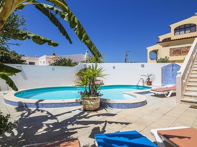 Photo for Apartment 2 m from the center of Armação de Pêra with Pool, Parking, Terrace, Garden (345864)