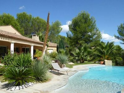 Photo for Large villa with pool, garden near Montpellier and the sea