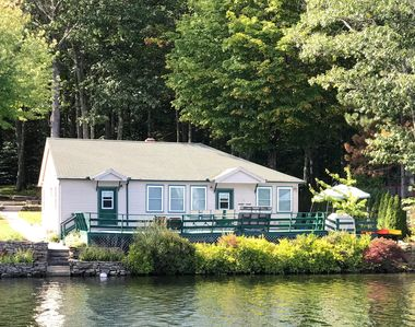 Photo for New England Lakefront 2BR Home with Dock & Deck on Pleasant Lake Deerfield, NH