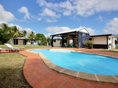 Photo for Beachfront villa, pool, pontoon, kayak - ideal family & friends, kitesurfing