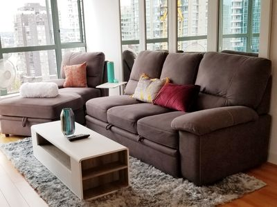 Photo for Two bed, Two bath condo in Downtown Vancouver (Parking included)