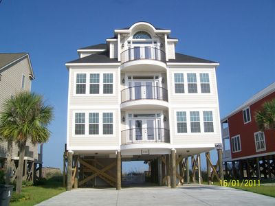 Wonderful Oceanfront 8 BR/9 BA W/ Private Pool, Hot Tub And Elevator. 8 Bedroom House  In Garden City, SC Good Ideas