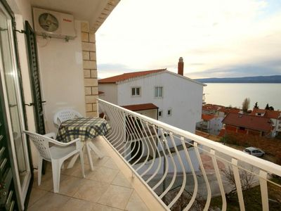 Photo for One bedroom apartment with balcony and sea view Duće (Omiš)