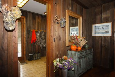 Mudroom and second front entrance.