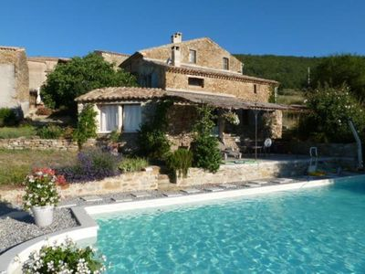 Photo for Gîte Alpes de Haute Provence heated swimming pool