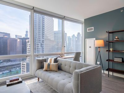 Photo for Quaint Streeterville 1BR w/ Gym, Pool, W/D near Mag Mile, by Blueground