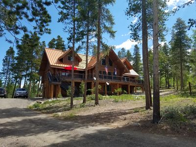 Photo for Secluded Custom Log Home w Hot Tub - by Winter Park, Granby Ranch & Grand Lake