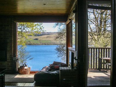 Photo for Lochside Chalet With Fireplace, Fantastic Mountain And Lake Views and Fishing.
