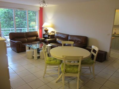Photo for Promo Standing apartment, 3 bedrooms, with terrace overlooking garden, swimming pool