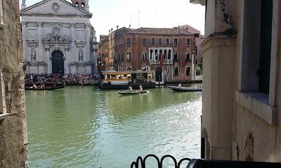 Photo for Grand Canal view elegant apartment finely restored in 18th century style.