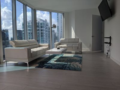 Photo for Luxury Downtown Miami Condo with Balcony and Views