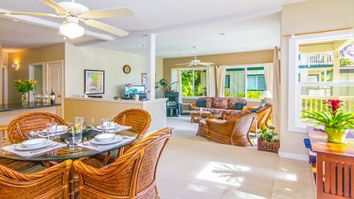 Photo for Deluxe Air Conditioned 1st Floor Poipu Condo: Walk to the Beach