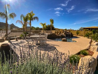 Photo for Beautiful 4Bd 2Ba Estate with Resort style pool and spa area on over an acre.