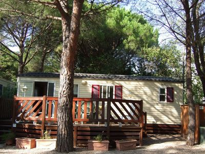 Photo for Recent mobilhome air-conditioned camping 5 * La Baume F433