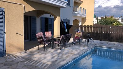 Photo for 3 bed 2 bath flat with large terrace and private pool