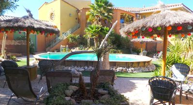 Photo for Gite saint julien with terrace on the ground floor with pool and games