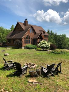 Spacious house and property surrounded by 60,000 acres of state forest.